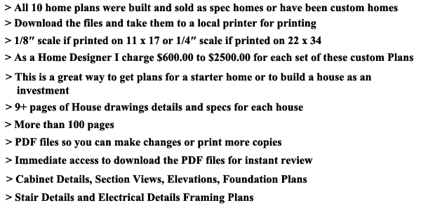 offer1 Download 50 Complete Contractor Blueprint Plan Sets